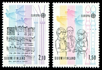Lot 22165:1985 Europa Music Year SG #1083-4 1m50 & 2m10, Cat £15.50.