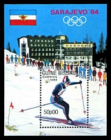Lot 3906:1983 Winter Olympics 1984 Sarajevo SG #823 50p M/sheet x3.