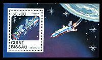 Lot 20171:1983 Space Shuttles SG #750 50p M/sheet.