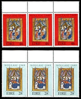 Lot 4206 [1 of 2]:1989 Christmas SG #738-41 set of 4 in strips of 3, Cat £10.50.