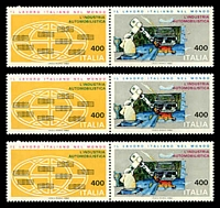 Lot 3720:1983 Automobile Industry SG #1780a se-tenant pairs x3.