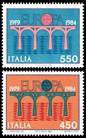 Lot 3847:1984 Europa 25th Anniversary SG #1840-1 set of 2, Cat £30.50.
