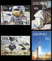 Lot 3885 [2 of 2]:1989 20th Anniversary of Moon Landing SG #915-22 set of 8.