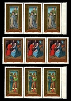Lot 4285:1989 Christmas SG #981-3 set of 3 in strips of 3.