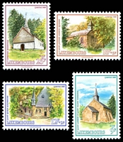Lot 3812:1989 National Welfare Fund - Restored Chapels SG #1259-62 set of 4.