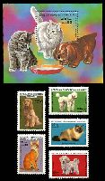 Lot 3813:1985 Cats and Dogs SG #539-44 set of 5 and M/sheet, Cat £11.50.
