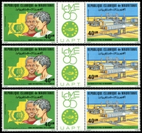 Lot 4327:1985 Philex Africa '85, Lome SG #823-4 pair with central tab x3, Cat £12.00.
