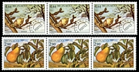 Lot 4121 [1 of 2]:1989 Precancels - Seasons of the Pear Tree SG #1952-5 set of 4 in strips of 3, Cat £12.75.