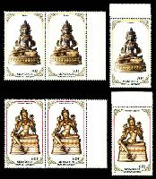 Lot 3900 [2 of 4]:1988 Religious Sculptures SG #1954-61 set of 8 x3, Cat £10.50.