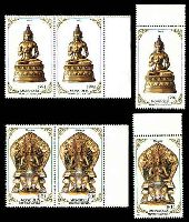 Lot 3900 [1 of 4]:1988 Religious Sculptures SG #1954-61 set of 8 x3, Cat £10.50.