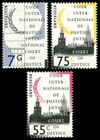 Lot 4140:1989 Olive Branch and Peace Palace, the Hague SG #J42, J46, J56 55c, 75c & 7g.