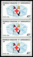 Lot 4153:1985 International Medicines Campaign SG #764 41f strip of 3.