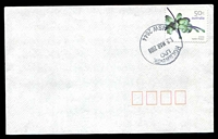 Lot 6026:Holbrook: - 29mm 'HOLBROOK/LPO/12MAR2008/NSW 2644' on 50c on unaddressed cover.  Renamed from Germanton PO 20/9/1915.