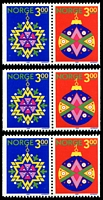Lot 4042:1989 Booklet Stamps - Christmas SG #1067-8 horizontal pair x3.