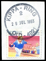 Lot 1244:Kippa Ring: 'KIPPA-RING/2/29JUL1993/QLD-4021' on 2c Sports.  PO 2/9/1963.