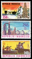 Lot 4281:1985 Centenary of Indonesian Oil Industry SG #1798-1800 set of 3.