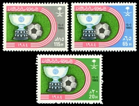 Lot 27050:1985 Victory in 8th Asian Football Cup Championship SG #1414-6 set of 3.