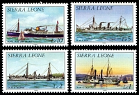 Lot 21391 [1 of 4]:1984 History of Shipping set of 13, SG #820b-33b, Cat £19.