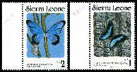 Lot 4138 [2 of 2]:1989 Butterflies SG #1031B-5Bd 1l, 2l, 3l, 9l, 12l & 16l, Cat £29.50.