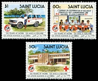 Lot 4530:1989 125th Anniv. of International Red Cross SG #1030-2 set of 3.