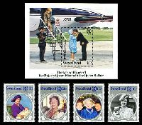 Lot 4608:1985 Queen Mother SG #486-90 set of 4 & M/sheet.