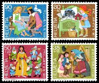 Lot 4205:1985 Characters From Children's Books SG #J291-4 set of 4.