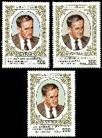 Lot 28750:1985 Re-Election of President Assad SG #1594-6 set of 3, Cat £12.50.