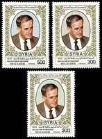 Lot 28749:1985 Re-Election of President Assad SG #1594-6 set of 3, Cat £12.50.