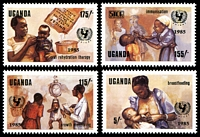 Lot 29009:1985 UNICEF Child Survival Campaign SG #473-6 set of 4.