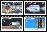 Lot 4686 [2 of 2]:1989 20th Anniv of First Manned Landing on Moon SG #736-43 set of 8, Cat £15.