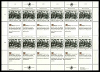 Lot 25936 [2 of 2]:1989 Universal Declaration of Human Rights Sc #95-6 2 Sheetlets of 12 stamps & se-tenant labels.