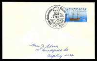 Lot 13140:Footscray (1): WWW #710 pictorial '10th Saltwater River Festival/{Charles Grimes}/8FEB1983/{rower}/FOOTSCRAY/VIC.3011' on 27c Australia Day on addressed cover.  PO 12/10/1857; renamed Footscray Delivery Centre DC 15/11/1993.