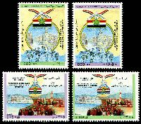 Lot 4788:1989 25th Anniv of 14th October Revolution SG #831-4 set of 4, Cat £17.
