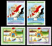Lot 4553:1989 26th Anniv of 1988 Revolution SG #827-30 set of 4, Cat £17.