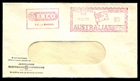 Lot 4541:Australian Electrical Industries window-faced cover cancelled with 17 Nov 1960 meter.