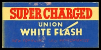 Lot 227:Australia - Union White Flash: multi-coloured blotter Super Charged - New Formula, New Performance, lightly used.