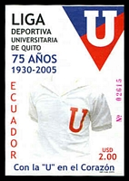 Lot 3999:2005 75th Anniv. of University Sports League, Quito $2 M/S, unrecorded SG.