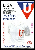 Lot 20640:2005 75th Anniv. of University Sports League, Quito $2 M/Sheet, unrecorded SG.