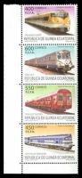 Lot 21744:2005 Trains vertical strip of 400fr, 450fr, 550fr & 600fr.