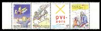 Lot 3903:2005 Don Quixote 400th Anniv. strip of 4 of 400fr, 450fr, 550fr & 600fr.