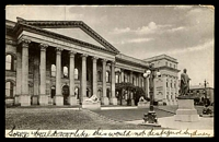 Lot 403:Australia - Victoria: black & white real photo PPC 'Public Library, Melbourne', franked with 1d pink, 2 Jly 1908 Melbourne machine cancel, some writing on front, small faults.