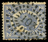 Lot 1061:103: rays on 2d 4-Corners (tone spots). [Rated R]  Allocated to Avondale-RO 22/7/1890; PO 8/9/1898; closed c.1984.