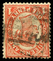 Lot 1463:404: BN on 1d Void-Oval. [Rated 3R]  Allocated to Blackstone-RO c.1881; PO 1/7/1885; closed 31/3/1977.