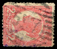 Lot 7080:537: '537' on 2½d Void-Oval. [Rated S]  Allocated to Cordalba-RO c.1893; PO 25/11/1896; closed 30/1/1981.