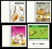 Lot 25029:1985 Traditional Musical Instruments SG #817-20 set of 4.