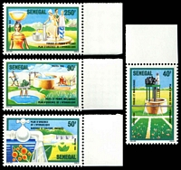 Lot 25027:1985 Water Emergency Plan SG #810-3 set of 4.