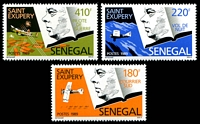 Lot 4304:1989 Antoine De Saint Exupery SG #985-7 set of 3.