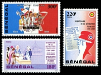Lot 25032:1989 Bicentennial of French Revolution SG #988-90 set of 3.