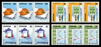 Lot 25034:1989 Philex France '89 SG #996-9 set of 4 in strips of 3.