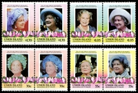 Lot 27100:1985 Queen Mother set of 8 as 4 se-tenant pairs.